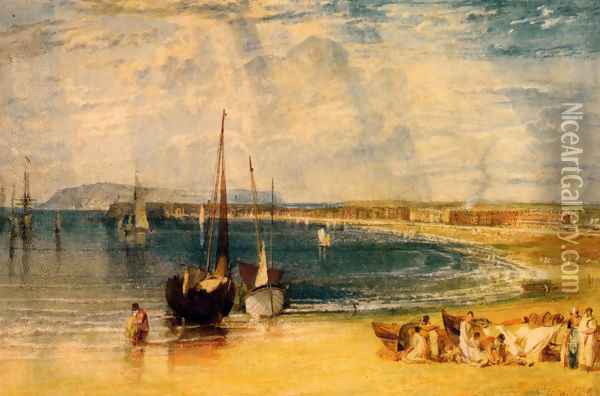 Weymouth Dorsetshire Oil Painting - Joseph Mallord William Turner