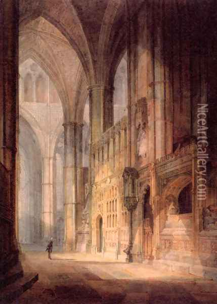 St Erasmus In Bishop Islips Chapel Westminster Abbey Oil Painting - Joseph Mallord William Turner