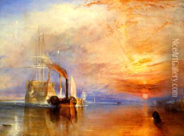 The Fighting 'Téméraire' tugged to her last Berth to be broken up Oil Painting - Joseph Mallord William Turner