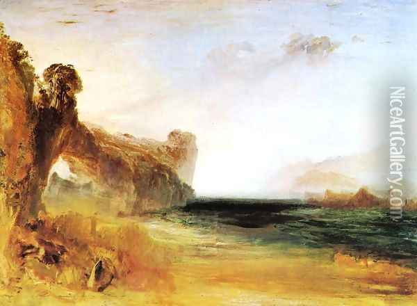 Rocky Bay With Figures2 Oil Painting - Joseph Mallord William Turner