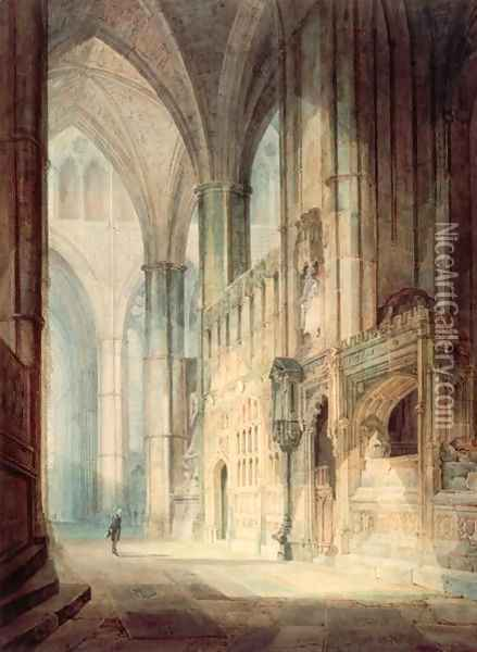 St. Erasmus in Bishop Islips Chapel, Westminster Abbey, 1796 Oil Painting - Joseph Mallord William Turner