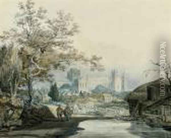 Peterborough Cathedral Oil Painting - Joseph Mallord William Turner