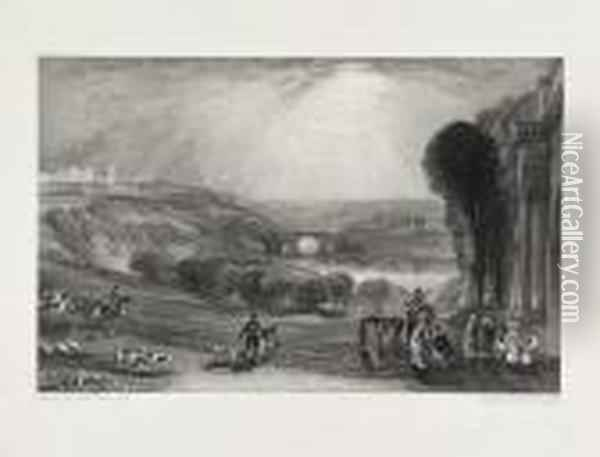 Picturesque Views In England And Wales Oil Painting - Joseph Mallord William Turner