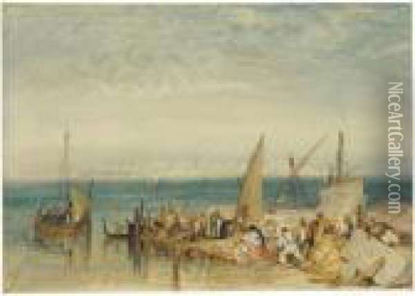 Venice From Fusina Oil Painting - Joseph Mallord William Turner