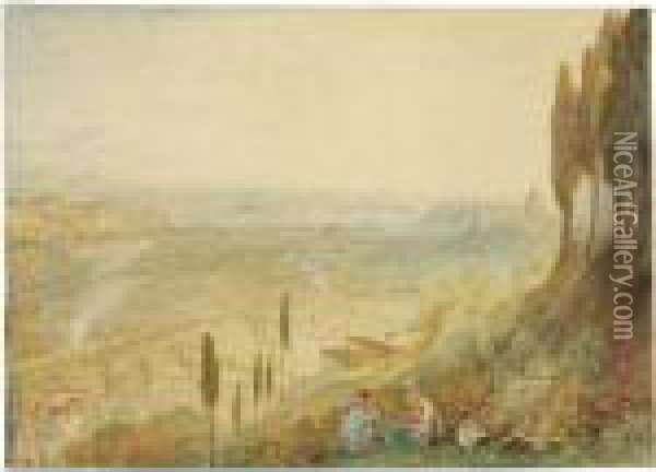 Rome From Monte Mario Oil Painting - Joseph Mallord William Turner