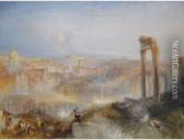 Modern Rome - Campo Vaccino Oil Painting - Joseph Mallord William Turner