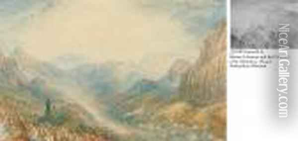 Mount Sinai, The Valley In Which The Children Of Israel Wereencamped Oil Painting - Joseph Mallord William Turner