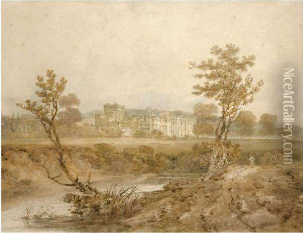 View Of Hampton Court, Herefordshire Oil Painting - Joseph Mallord William Turner