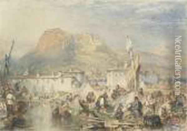 View Of Corinth, Greece Oil Painting - Joseph Mallord William Turner