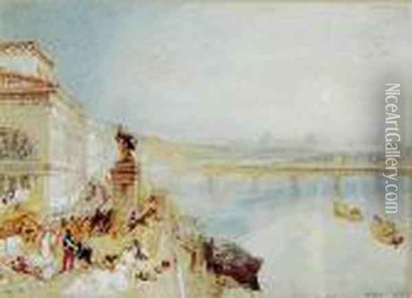 Rouen And Paris Oil Painting - Joseph Mallord William Turner