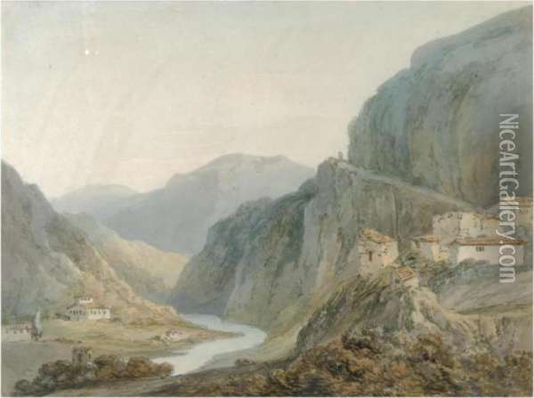 Ascent To The Cascade Of Terni Oil Painting - Joseph Mallord William Turner