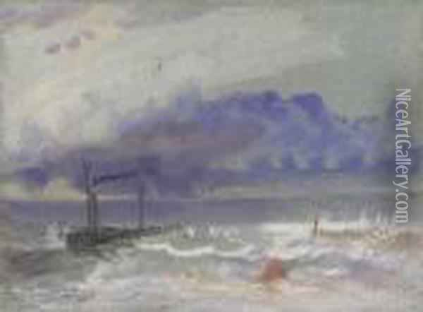 Off Yarmouth Oil Painting - Joseph Mallord William Turner