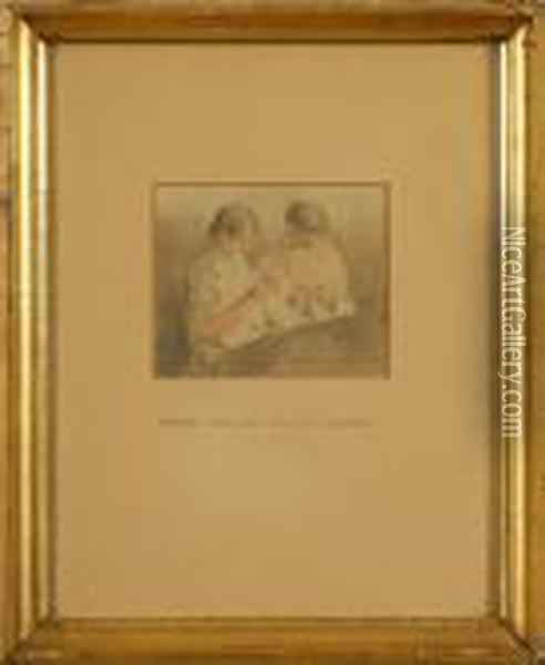 Two Men In White Oil Painting - Joseph Mallord William Turner