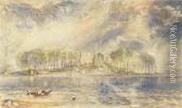 Lochmaben Castle, Dumfriesshire, Scotland Oil Painting - Joseph Mallord William Turner