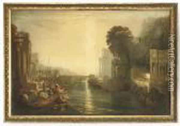 Dido Building Carthage, Or The Rise Of The Carthaginianempire Oil Painting - Joseph Mallord William Turner