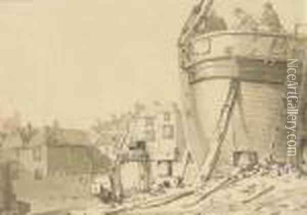 A Boatbuilder's Yard, Dover Oil Painting - Joseph Mallord William Turner