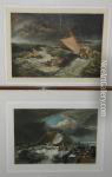 The Grand Canal; The Shipwreck; Calais Pier Oil Painting - Joseph Mallord William Turner