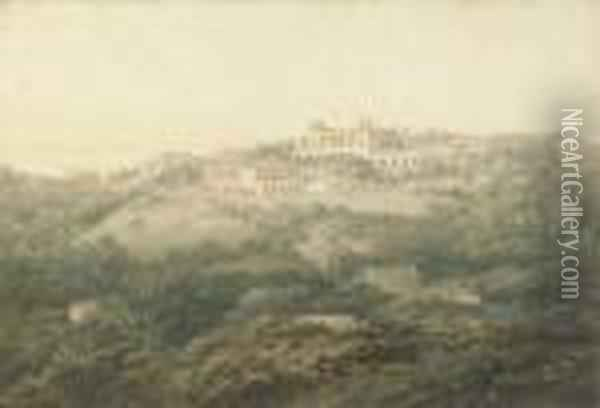 An Italian Landscape, Possibly Frascati Oil Painting - Joseph Mallord William Turner