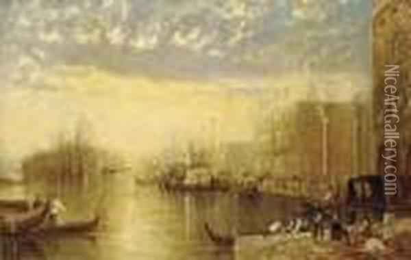 The Entrance To The Grand Canal Oil Painting - Joseph Mallord William Turner