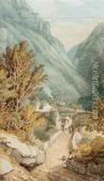 Valley Of The Nar From The Cascade Of Terni Oil Painting - Joseph Mallord William Turner