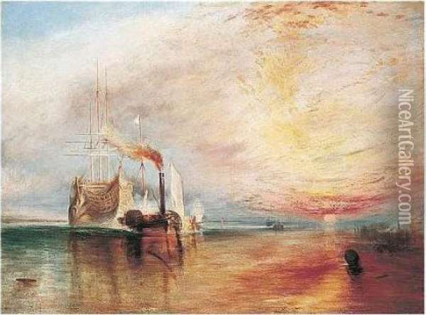 The Fighting Temeraire Oil Painting - Joseph Mallord William Turner