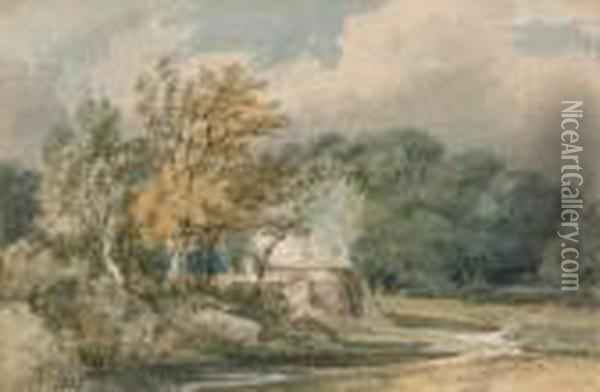 A Lime Kiln At Penshurst, Kent Oil Painting - Joseph Mallord William Turner