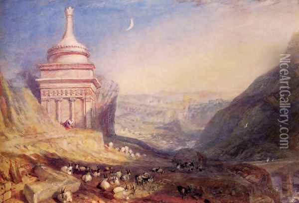 Valley Of The Brook Kedron Oil Painting - Joseph Mallord William Turner