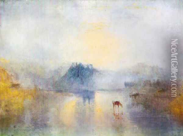 Dawn in Norham Castle Oil Painting - Joseph Mallord William Turner