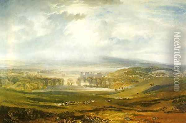 Raby Castle The Seat Of The Earl Of Darlington Oil Painting - Joseph Mallord William Turner