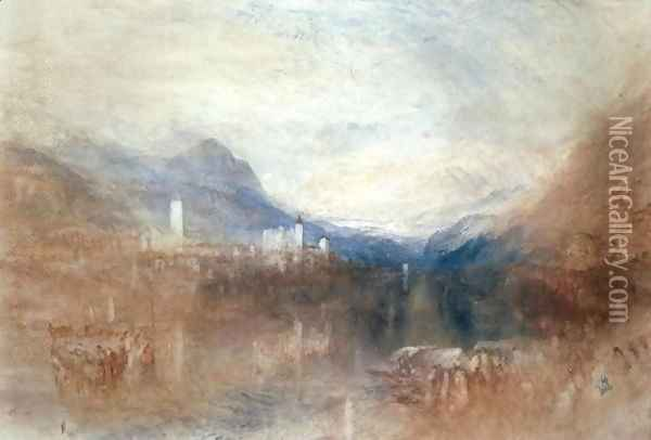 Pallanza, Lake Maggiore Oil Painting - Joseph Mallord William Turner