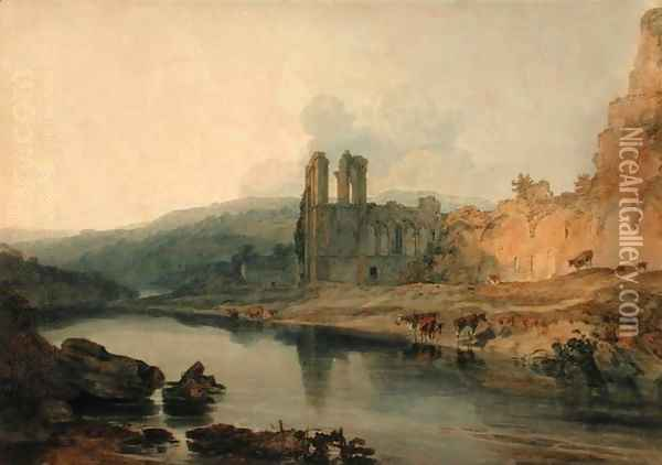 St Agathas Abbey, Easby Oil Painting - Joseph Mallord William Turner
