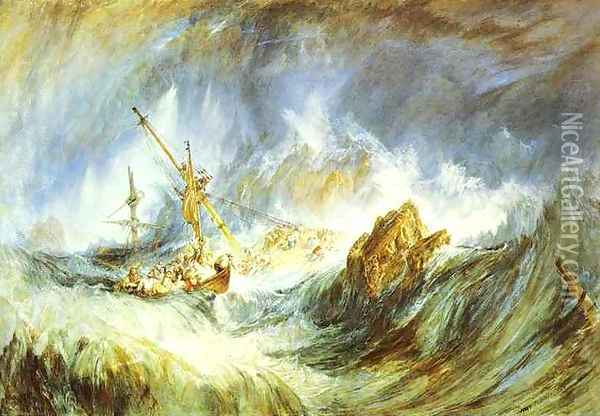 A Storm (Shipwreck) Oil Painting - Joseph Mallord William Turner