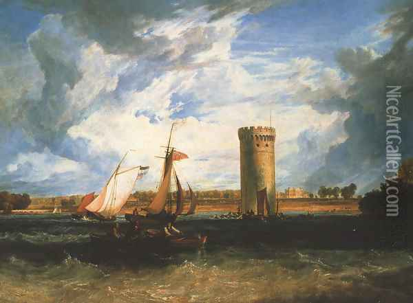 Tabley The Seat Of Sir J F Leicester Oil Painting - Joseph Mallord William Turner