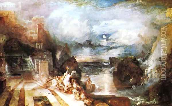 The Parting Of Hero And Leander From The Greek Of Musaeus Oil Painting - Joseph Mallord William Turner