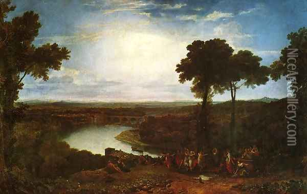 The Festival Upon The Opening Of The Vintage At Macon Oil Painting - Joseph Mallord William Turner