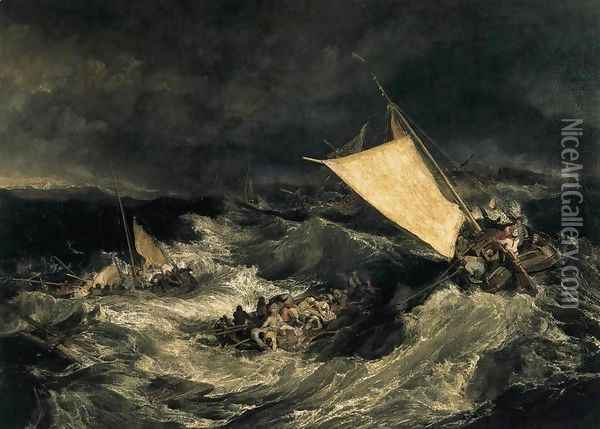 The Shipwreck c. 1805 Oil Painting - Joseph Mallord William Turner