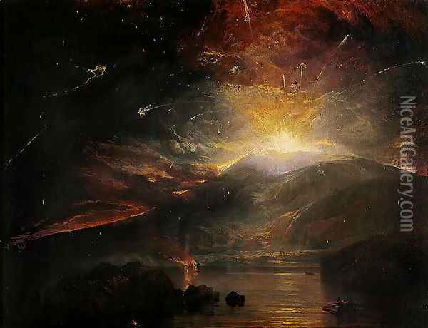 The Eruption of the Soufriere Mountains in the Island of St. Vincent, 30th April 1812 Oil Painting - Joseph Mallord William Turner