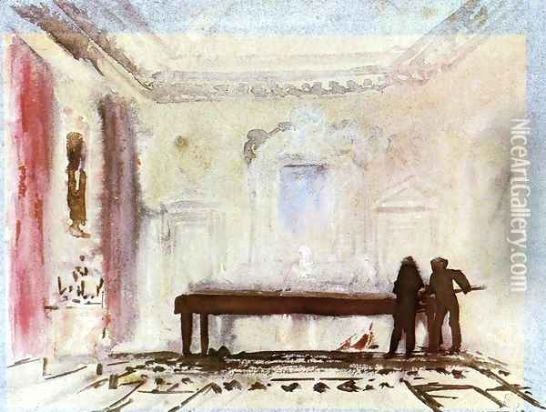 Playing Billiards, Petworth Oil Painting - Joseph Mallord William Turner