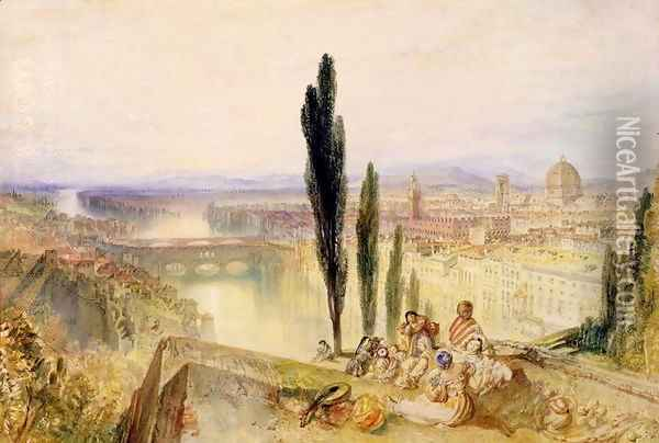 Florence, c.1827 Oil Painting - Joseph Mallord William Turner