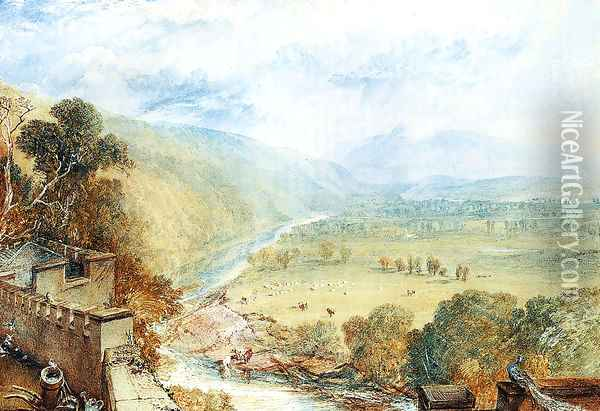 Ingleborough From The Terrace Of Hornby Castle Oil Painting - Joseph Mallord William Turner