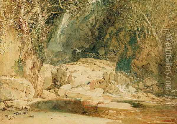 Lonely Dell, Wharfedale, c.1818 Oil Painting - Joseph Mallord William Turner