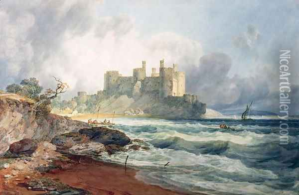 Conway Castle 2 Oil Painting - Joseph Mallord William Turner
