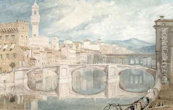 Florence from the Ponte alla Carraia Oil Painting - Joseph Mallord William Turner