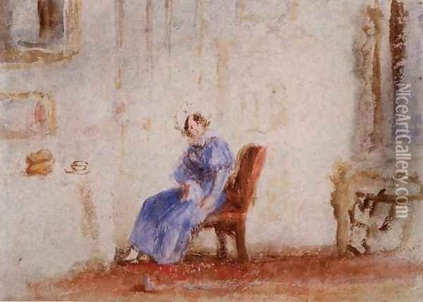 Spilt Milk, c.1828 Oil Painting - Joseph Mallord William Turner
