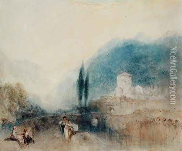 Bellinzona, 1842 Oil Painting - Joseph Mallord William Turner