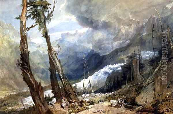 Mere de Glace, in the Valley of Chamouni, Switzerland, 1803 Oil Painting - Joseph Mallord William Turner