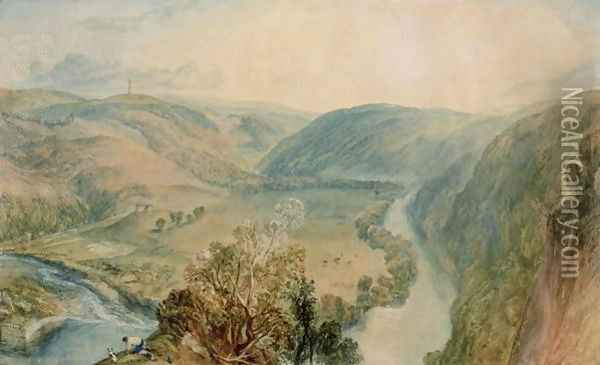 Gibside, County Durham from the North Oil Painting - Joseph Mallord William Turner