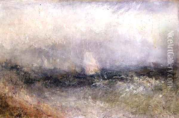 Off the Nore Wind and Water, 1840-5 Oil Painting - Joseph Mallord William Turner