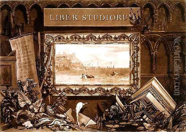 Frontispiece to Liber Studiorum, engraved by J. C. Easling fl.1788-1815 181 Oil Painting - Joseph Mallord William Turner