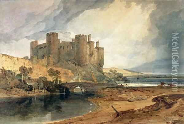 Conway Castle 4 Oil Painting - Joseph Mallord William Turner